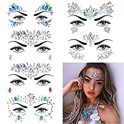 Rhinestone Rave Festival Face Jewels