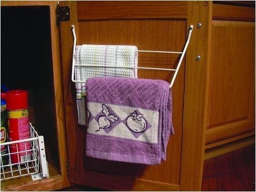 Generic NV_1008002619_YC-US2 ge RVlf Rack Dish Towel White Home Kitchen Dish Holder Cabinet l Hol Shelf Door 3 White abine Drawer Storage RV Home Ki by Generic