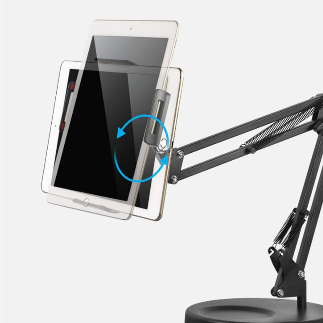 DLMPT LED Adjustable Ring Light with Desktop Stand and Phone Holder Dimmable 3 Light Modes Level 10 Brightness Ringlight Make Up Light for YouTube Vlog Makeup Video Shooting Selfie,26cm,Tabletclip