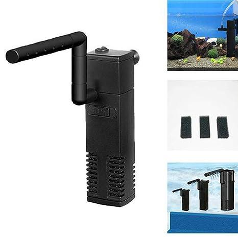 quanjucheer - Mini purificador de Agua silencioso para Acuario (300 L, 600 L, 1000 L): Amazon.es: Productos para mascotas