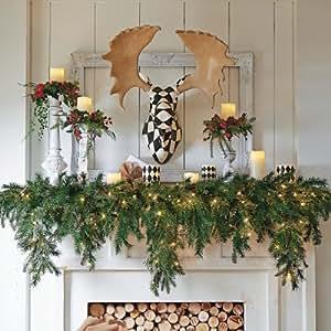 amazing kitchen christmas garland | Amazon.com: 6' Cascading Christmas Garland - Grandin Road ...