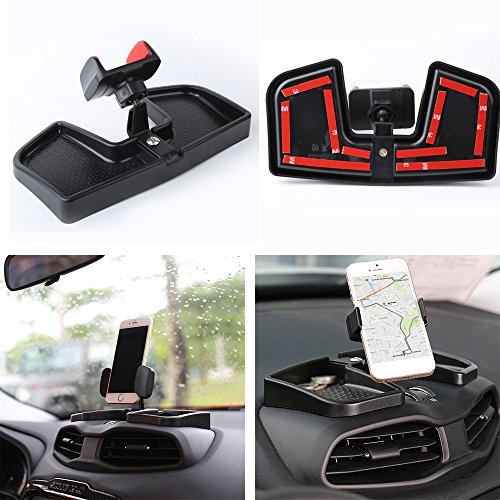 Car Dash Cell Phone Holder With ABS Storage Box 360 Degree Rotate GPS Bracket Holder Auto Mobile Holder Stand Kit For Jeep Renegade 2015-2017