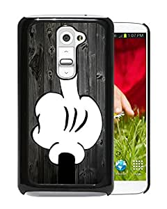 Bad Mickey Mouse On Wood Black Abstract Personalized Picture LG G2 Case