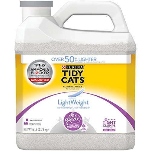 Purina Tidy Cats LightWeight Glade Tough Odor Solutions for Multiple Cats Clean Blossoms Clumping Cat Litter (Litter Low Cat Track Clumping)