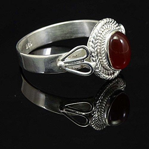 Banithani925 argent pur nouvelle exclusive pierre cornaline bijoux de mode anneau