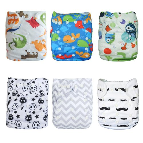 ALVABABY Washable Adjustable Reusable 6DM08 product image