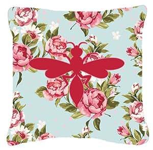 Wasp MirrorOutlet azul rosas tela almohada decorativa BB1054