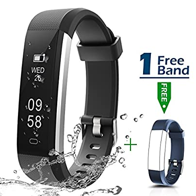 Ultrathin Fitness Tracker CHEREEKI Fitness Trackers with IP67 Waterproof Activity Tracker Sport Smart Watch Smartwatch Sleep Monitor Message Push SNS Alert for Android Phone and iOS iPhone Estimated Price £18.99 -