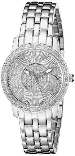 CROTON Women's CN207420SSDI Ballroom Analog Display Swiss Quartz Silver Watch