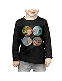 Toddler's The Golden Girls Long Sleeve T Shirts Black