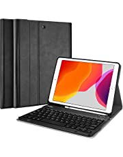 ProCase iPad 10.2 8th Gen 2020 / 7th Generation 2019 Keyboard Case, Slim Shell Lightweight Smart Cover with Magnetically Detachable Wireless Keyboard for 10.2 Inch iPad 8/7 -Black