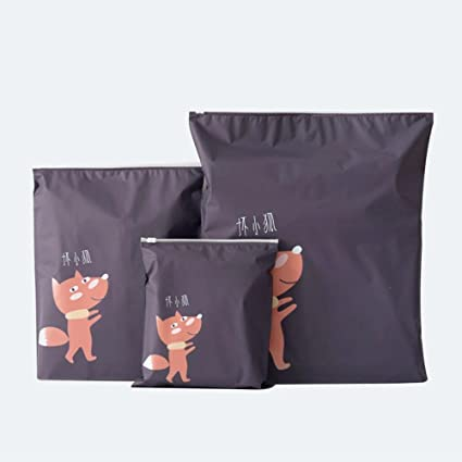 Bolsa de almacenamiento,3 piezas de viaje creativo portátil Miscelánea almacenamiento bolsas de dibujos animados