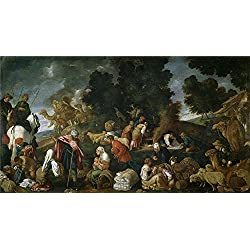 Oil Painting 'Orrente Pedro De Laban Busca Los Idolos 1620 25 ' Printing On High Quality Polyster Canvas , 24 X 44 Inch / 61 X 111 Cm ,the Best Bathroom Gallery Art And Home Decor And Gifts Is This Best Price Art Decorative Canvas Prints
