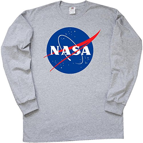 fa78a8ef Inktastic NASA Logo Long Sleeve T-Shirt Large Athletic Heather - Import It  All