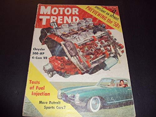 500hp Motor - Motor Trend Aug 1957 Chrysler 500-Hp, Detroit's Sports Cars C