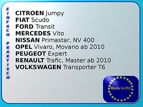 Renault Master a partir de 2010 conductores - Pasajero Asiento Juego De Calidad Probada TÜV - Robusto plástico: Amazon.es: Coche y moto