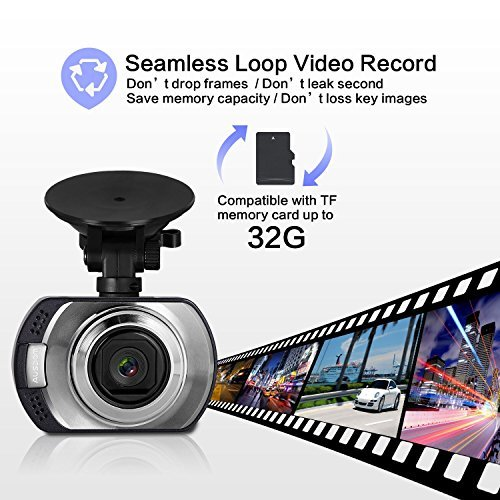 AUSDOM Dash Cam AD170 with 1080P FHD,G-Sensor, Loop-Cycle Recording,WDR by Ausdom (Image #2)