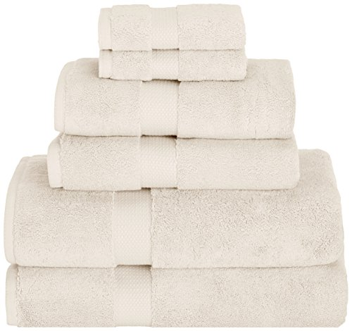 Daisy House Mesa Towel Set (2 bath, 2 hand & 2 wash), Cream (Towels 800 Gram)