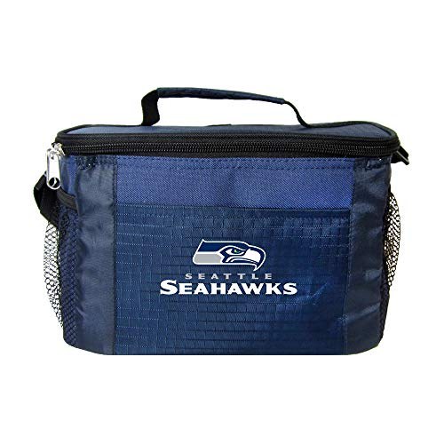 NFL Seattle Seahawks Insulated Lunch Cooler Bag with Zipper Closure, Navy