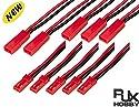 Rjxhobby 5 pairs 20 awg jstプラグコネクタ2ピン男性女性プラグコネクタケーブル線用ledランプストリップrcおもちゃバッテリー