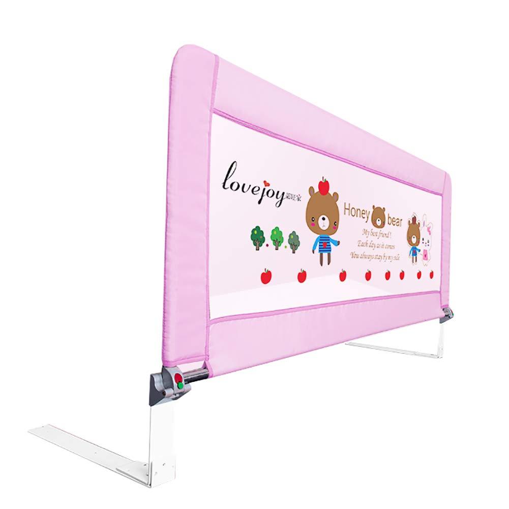 ベッドフェンス- ポータブルベビーベッドレール/ガード、シングルベビーレイルロングベッドベイル、幼児用、ワンクリック折りたたみ、0.8-1.2mの長さ (色 : Pink, サイズ さいず : 110cm length) 110cm length Pink B07JGX7HCL