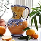 Hot Paella Rustic Orange & Yellow Sangria Pitcher For Sale