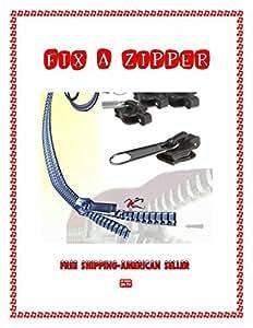 Fix A Zipper 2 Sizes Bulk Packaged 12-Replacement Zippers-(Black) U.S.A. SELLER FAST SHIPPING