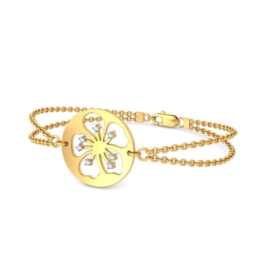 0.105 cttw Round-Cut-Diamond identification-bracelets Size 9.75 inches 14K Yellow Gold HallMarked IJ| SI