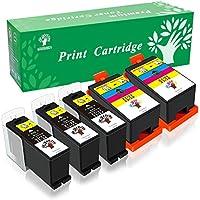 GREENSKY 5 Pack(3 Black & 2 Color) High Yield Compatible Ink Cartridge For Dell Series 21/22/23/24 P513w P713w V313 V313w V715w V515w