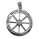 Sterling Silver Cut Out Wheel of the Year Pendant
