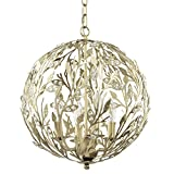 Firefly Kids Lighting - Luna Light Fixture - Gold, 15-Inches Diameter, 4-Light E12 60W each (not included), Hand-Wrought Iron, Authentic Crystals, Dimmable