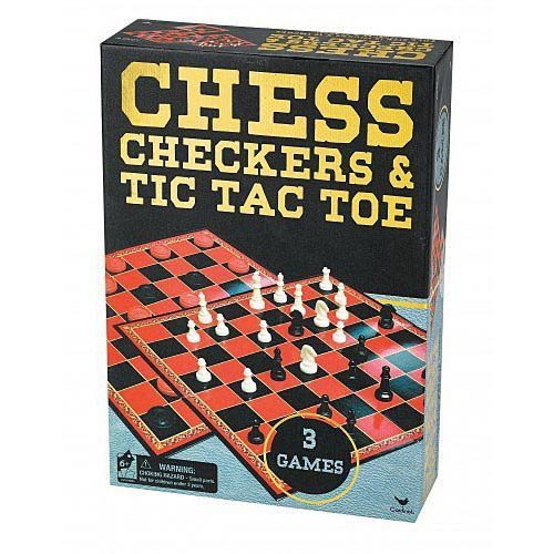Gold Chess (Chess/Checkers & Tic Tac Toe In Gold Foil Box Classic)