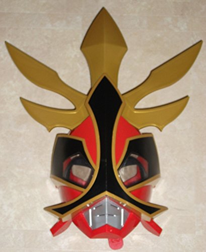 [Rare Red Samurai Megaforce Power Ranger Talking Sounds Helmet Mask] (Yellow Samurai Ranger Costume)