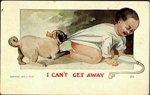 I Can't Get Away Dogs Original Vintage -