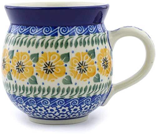 Polish Pottery Bubble Mug 12 oz Marigold Morning