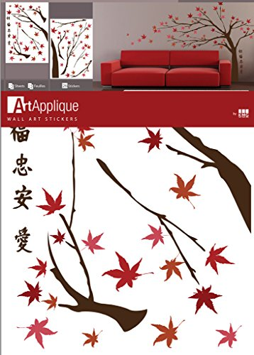 Art Applique Japanese Maple Tree Designer Wall Decor Vinyl Decal Sticker