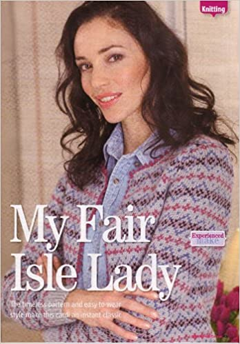 Womens Fair Isle Cardigan Knitting Pattern To Fit Bust Or Chest