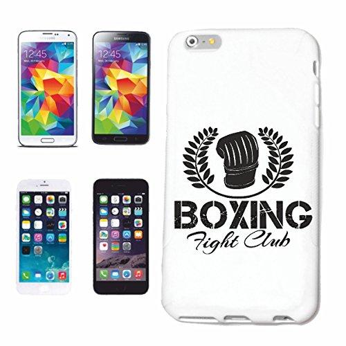 """cas de téléphone iPhone 6S """"BOXE FIGHT CLUB DE BOXE BOXING CLUB DE BOXE GANTS BOX ROCKY STALLONE SPARRING BOXER"""" Hard Case Cover Téléphone Covers Smart Cover pour Apple iPhone en blanc"""
