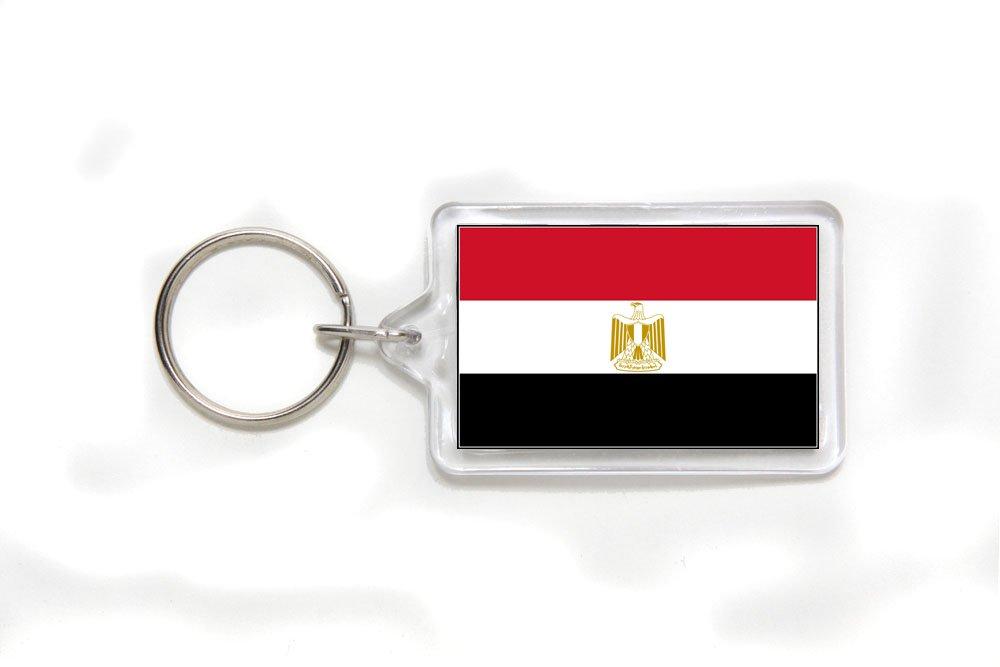 Egypt Egyptian Flag Double Sided Acrylic Key Ring Small
