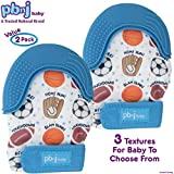 PBnJ baby Silicone Infant Teething Mitten Teether Glove Mitt Toy with Travel Bag-Sports 2pk Review