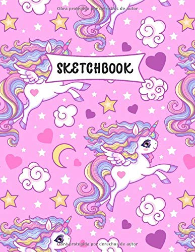 Sketchbook: Kawaii Unicornio Cuaderno de dibujo para niños | Practicar dibujo y garabatos | Libro de bocetos para los pequeños por Publicaciones de Sprouts