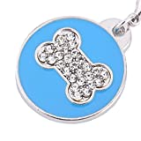 1 Pcs Dog Bone Style Dog Name Dog Necklace Tag Pets Identity Card Fashion Key Chain 2 Colors