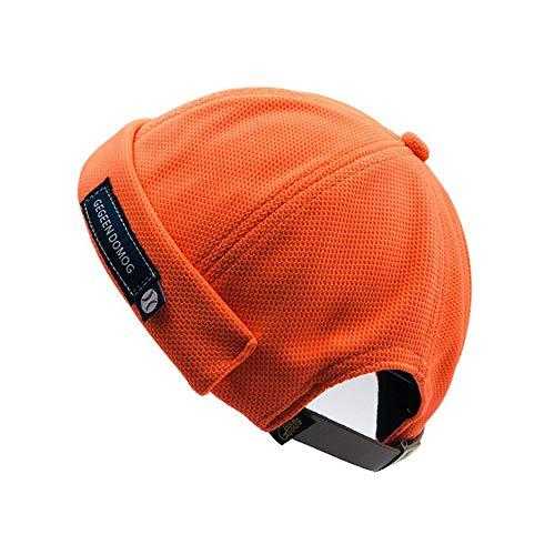 - Clape Docker Leon Harbour Hat Watch Cap Breathable Mesh Design Retro Brimless Beanie Hat Unisex