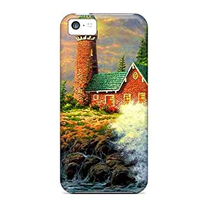 New IBJ4230PEAm The Rough Sea Skin Case Cover Shatterproof Case For Iphone 5c