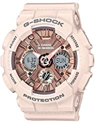 Casio Women's 'G SHOCK' Quartz Stainless Steel and Resin Casual Watch, Color:Pink (Model: GMA-S120MF-4ACR)