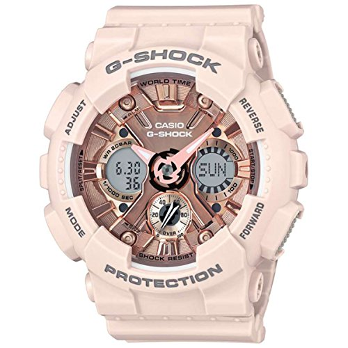 - Casio Women's 'G Shock' Quartz Stainless Steel and Resin Casual Watch, Color:Pink (Model: GMA-S120MF-4ACR)