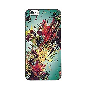 Hot diy case (TM) cell phone case for Iphone 6 plus 5.5 High Impackt Combo Soft Silicon Rubber Hybrid Hard Pc & Metal Aluminum Protective Case with Color inkjet canvas Luxurious Pattern(Black) by heywan