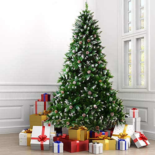ZERLA 7.5ft Premium Spruce Artificial Christmas...