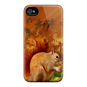 MtWilliams Xhr1595GZgh Case Cover Skin For Iphone 4/4s (autumn Squirrel Country)