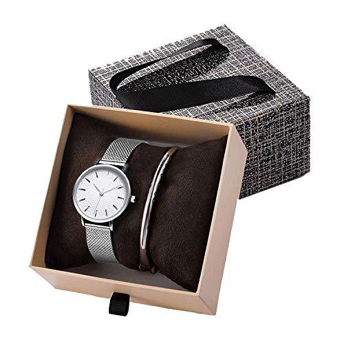 - Creative Silver Quartz Watch Women Bracelet Set Sk Ladies Watches Gift Jewelry Set,K06 Silver Bangle